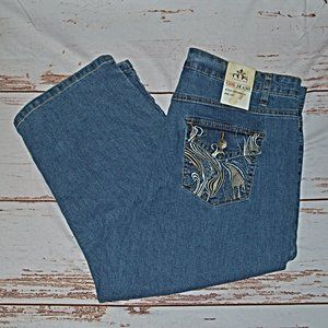 COS Cropped Embellished Jeans